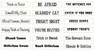 JustRite   Halloween Mini Sentiments Set