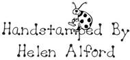 Handstamped Ladybug Custom Rubber Stamp
