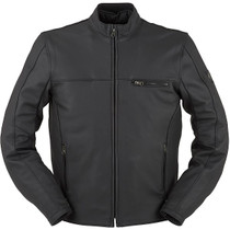 Furygan Dany Waterproof Leather Motorcycle Jacket - Black
