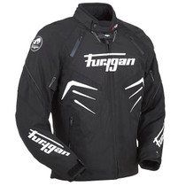 Furygan Skull Waterproof Textile Motorcycle Jacket - Black / White