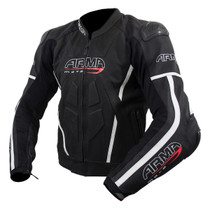 ARMR Moto Raiden 2 Leather Jacket - Black / White