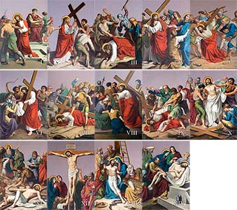 Outdoor Aluminum Stations of the Cross plates (Set of 14)