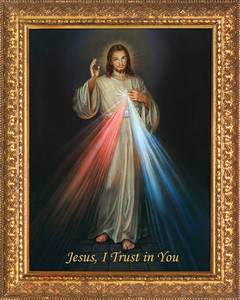 Church-Sized Divine Mercy Canvas Framed