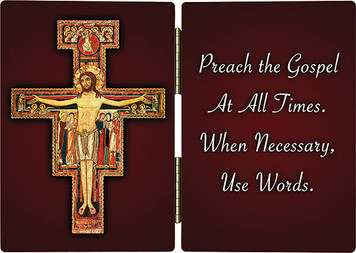 San Damiano Crucifix with Quote Diptych