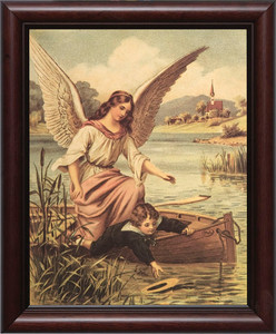 Guardian Angel on the Boat Framed Art