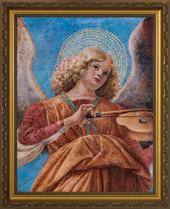Angel Playing the Violin Framed Art