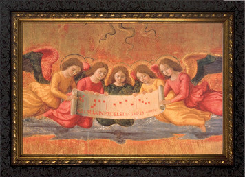 The Nativity Detail of Angels Framed Art