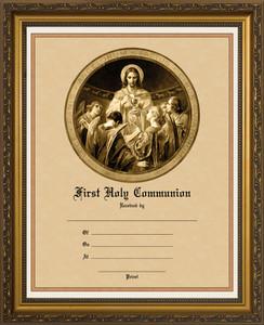 Christ, Bread of Angels - Gold Framed Certificate