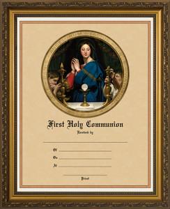 Madonna of the Host - Gold Framed Certificate