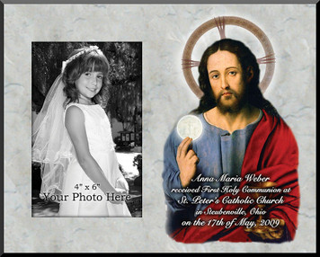 Christ with the Eucharist Personalized Photo Plaque