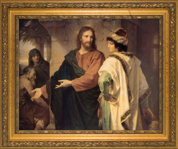 Christ and the Rich Young Ruler Framed Art