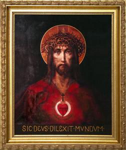 For God So Loved The World - Standard Gold Framed Art