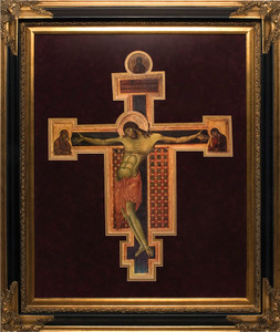 Crucifix Icon by Cimabue Framed