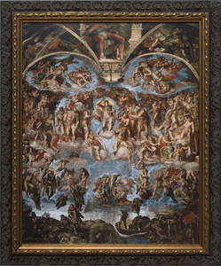 Last Judgement of Christ - Ornate Dark Framed Art