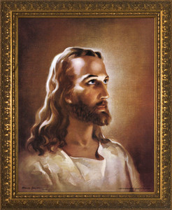 Head of Christ - Standard Gold Framed Art