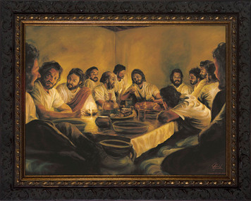Last Supper by Jason Jenicke - Ornate Dark Framed Art