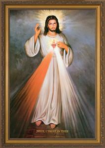 Divine Mercy with Sacred Heart Full Framed Art
