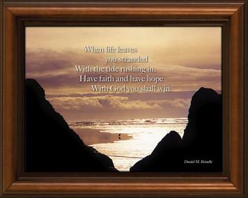 Tide Poem Framed