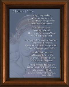 Mother of Mine Poem Framed