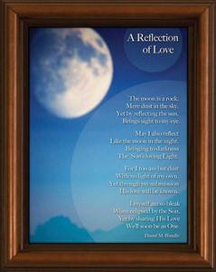 Reflection of Love Poem Framed