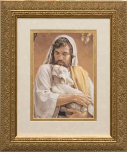 The Good Shepherd Matted - Gold Framed Art