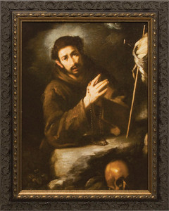 St. Francis in Prayer Framed Art