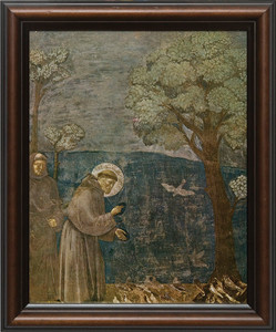 St. Francis with Birds Framed Art