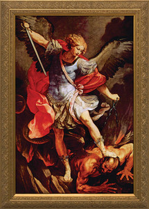 St. Michael the Archangel - Gold Framed Art