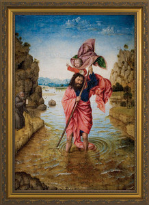 St. Christopher with Jesus Framed Art
