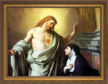 St. Margaret Mary Alacoque Framed Art