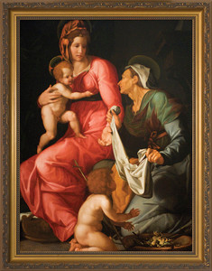 St. Elizabeth with Madonna and Child Framed Art