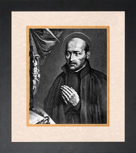 St. Ignatius of Loyola Matted Framed Art
