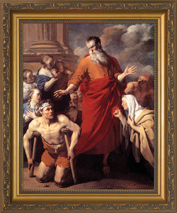 St. Paul Healing the Cripple - Standard Gold Framed Art