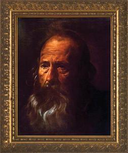 St. Paul (Portrait) by Velazquez - Gold Framed Art