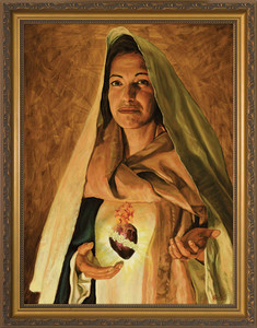 Immaculate Heart of Mary by Jason Jenicke - Standard Gold Framed Art