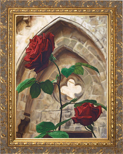 Roses by Jason Jenicke - Ornate Gold Framed Art