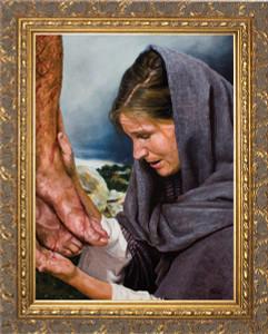 Mary's Sorrow by Jason Jenicke Ornate Gold Framed Art