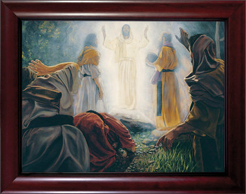 Transfiguration by Jason Jenicke Cherry Framed Art