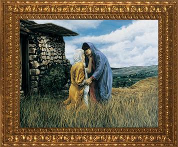 The Visitation I by Jason Jenicke - Ornate Gold Framed Art (Limited Edition)