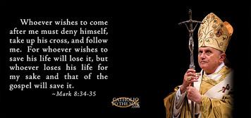 Pope Benedict XVI with Scripture Verse Mug