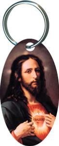 Sacred Heart Oval Keychain