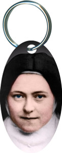 St. Therese Nun Oval Keychain