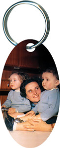 St. Gianna Molla Oval Keychain