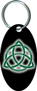 Trinity Logo Oval Keychain