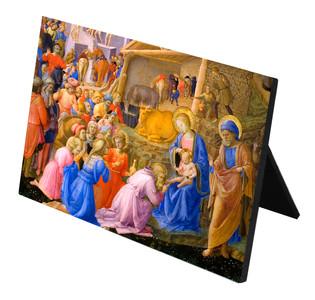 Adoration of the Magi Horizontal Desk Plaque