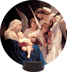 Song of the Angels Round Desk Plaque