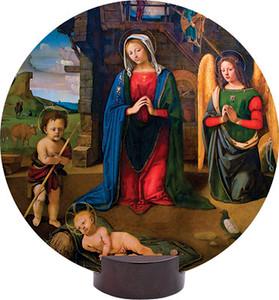 Nativity (Kneeling Angel) Round Desk Plaque