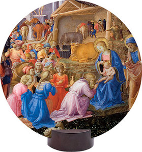 Adoration of the Magi Detail Round Desk Plaque