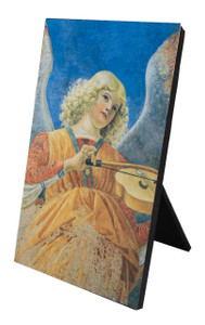 Angel Playing the Violin Vertical Desk Plaque