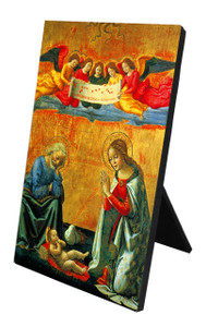 Nativity by Ghirlandaio Vertical Desk Plaque